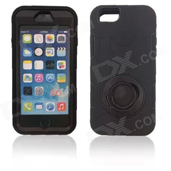 Shockproof Anti-dust TPU Back Case Cover Armor for IPHONE 6 - Black