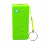 Universal 5V 2600mAh Li-ion Battery Power Bank w/ Strap - Green
