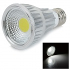 JR-LED E27 9W 780lm 6450K COB LED White Light Spotlight - Silber + Weiß (AC 85 ~ 265V)
