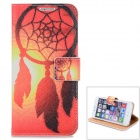 Dreamcatcher & Sunset Pattern PU Leather Flip Open Case w/ Stand / Card Slot for IPHONE 6