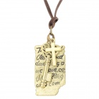 Retro Shakespeare's Love Letter Style Zinc Alloy Pendnat Necklace - Coffee + Antique Bronze