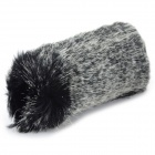 Large Rabbit Hair Camera Microphone Cover / Windscreen - Blackish Grey