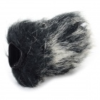 Middle Rabbit Hair Camera Microphone Cover / Windscreen - Grey