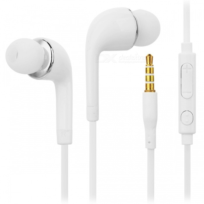 3.5mm Wired In-Ear Earphone w/ Microphone - White