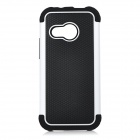 Protective Basketball Grain Pattern Plastic Back Case Cover for HTC M8 Mini - Black + White