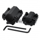 2-in-1 Gun Sight Scope Mount Holder Clamp Set - Black
