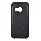 Protective Basketball Grain Pattern Plastic Back Case Cover for HTC M8 Mini - Black