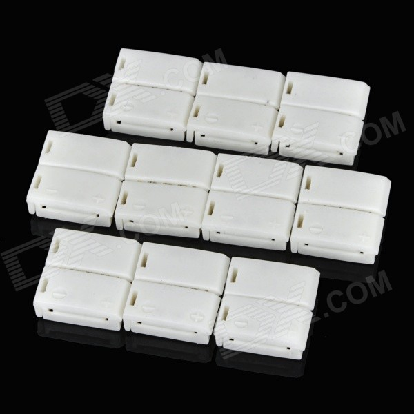 Soldering-Free ABS Connector for RGB Light Strip - White (10pcs)