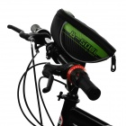"B-SOUL B-015 Bicycle Handlebar Mounted 5.7"" Phone Bag - Black + Green"