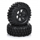 1:10 Scale Plastic Tire for Rally Model Cars - Black (2pcs)