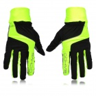 SAHOO 42890 Cycling Anti-Skid Full Fingers Touch Screen Gloves - Black + Yellow (M / Pair)