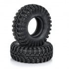 1:10 Scale 108mm Plastic Tires for Bike Trial - Black (2pcs)
