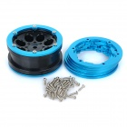 Wheel Rim Hub Spacers & Screws for 1:10 Model Car - Black+Blue (4PCS)