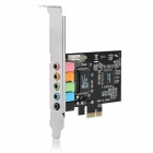 PCI-E 5.1-CH Stereo Audio Sound Card for Desktop Computer - Black