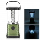 Outdoor Camping Emergency 16-LED White Lantern - Black + Army Green (4 x AA)