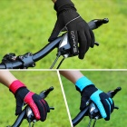 SAHOO 42890 Cycling Riding Warm Full Fingers Touch Screen Gloves - Black + Blue (M / Pair)