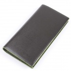 T813-3 Fashion PU Leather Long Wallet for Men - Black + Green