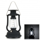 Outdoor Solar Dynamo 16-LED Cool White Lamp Hanging Lantern - Black