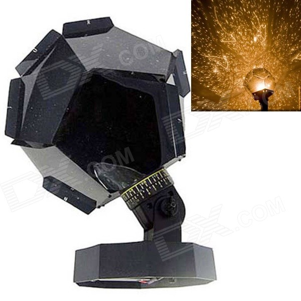 dg0006 2 g5 3 warm yellow starriness pattern projector light black free shipping dealextreme. Black Bedroom Furniture Sets. Home Design Ideas
