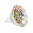 DF28 MR16 5W 180lm 6500K 12-SMD 5730 LED White Light Lamp Bulb - White + Silver (DC 12V)