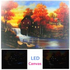 MY-24 Maple Forest Style Frameless Canvas LED Light Painting with Chipboard (40 x 30cm)