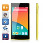 iNew V1 5.0 MT6582 Quad-Core WCDMA Android 4.4 Phone w/ Wi-Fi / GPS / 1GB RAM / 8GB ROM - Yellow