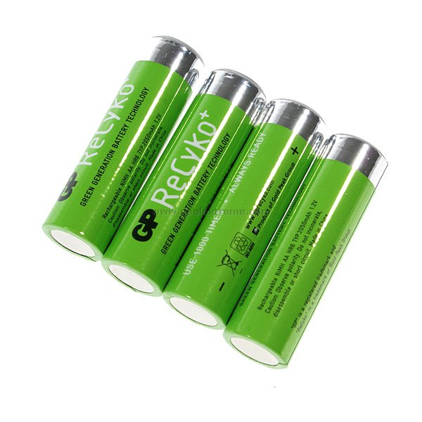 GP ReCyko+ 2050mAh Rechargeable Ni-MH Batteries (4-Pack)