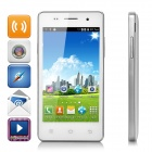 "H9008 4.0"" Screen Android 4.4.2 WCDMA Phone w/ Dual-Cam, Dual-SIM, GPS, TF - White + Silver"