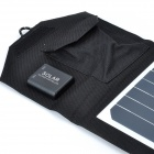 VINA 14W Dual USB Cargador de panel solar plegable Powered - Negro