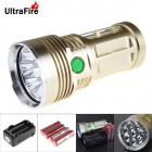 UltraFire U-8T 8-LED 7500lm Cool White 5-Mode Super Bright Flashlight - Golden (4x18650)