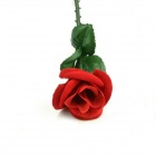 Plastic Magic Fold-up Rose - Red + Green