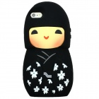 Cute Smiley Doll Style Phone Back Shell Case for IPHONE 5 / 5S - Black