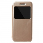 KALAIDENG Protective PU Leather + TPU Case w/ Stand / View Window for IPHONE 6 - Golden