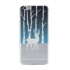 Ultra-thin Deer Pattern TPU Back Case Cover for IPHONE 6 PLUS - White + Transparent