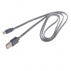 Ultra-thin USB Male to Micro USB Male Data Sync & Charging Cable for Andriod Phone - Black (93cm)