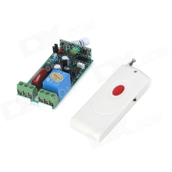 ZnDiy-BRY 1CH Learning Code Remote Control Switch System Receiver + Transmitter Set (AC 220V)