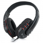 MAIBOSI MA-203 Headband Headphone w/ Mic / 3.5mm for Samsung / IPHONE / HTC Cellphone - Black + Red
