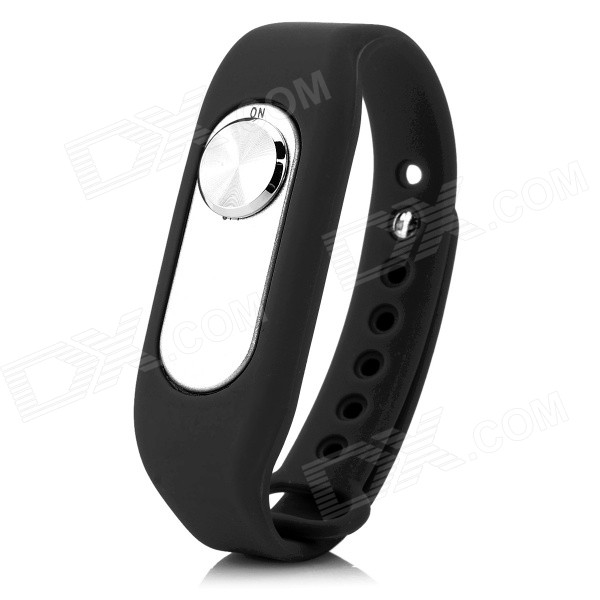 Sports Wrist Band Digital Voice Recorder w/ 16GB RAM - Black + Silver