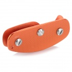 EDCGEAR Convenient Aluminum Alloy Key Holder Case w/ Clip - Orange