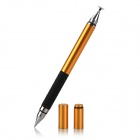 Capacitive / Resistive Touch Screen Stylus w/ Ball Pen for Cellphones / Tablet PCs - Golden + Black