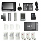 "DanminiYB-50GAT-1 5"" Touch Screen Smart Elektronisk Night Vision Kattens Eye Doorbell - Svart"