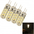 YouOKLight S15-1 G4 1.5W 100lm 3000K 24-SMD 3014 LED warme weiße Licht-Lampe (DC 12V / 4PCS)