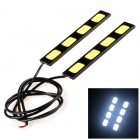 Bricolage 4W 120lm 6000K 4-LED lumière blanche Daytime Running Light (2PCS)