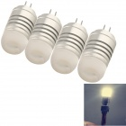 YouOkLight G4 4W 380lm 3000K 3020 SMD LED Warm White Light Bulb Lamp - Silver (AC / DC 12V / 4PCS)
