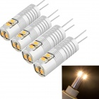 YouOkLight G4 2.5W 220lm 3000K 6-SMD 3014 LED Warm White Light Lamp - Silver (AC / DC 12V / 4PCS)