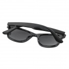 Unisex UV400 Protection Plastic Frame Resin Lens Sunglasses - Black