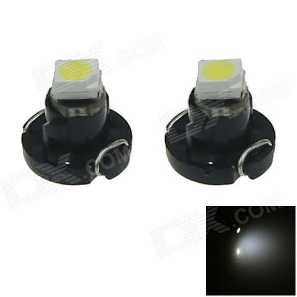 T3 0.1W 10lm LED Cold White Car Dash Board Instrument Lamp (2PCS)