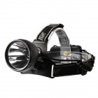 KOMAES 150lm 3-Mode White LED Outdoor Waterproof Head Lamp Flashlight - Black (2x18650)