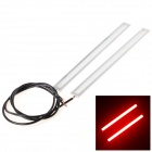 Water-resistant DIY 5W 280lm 620nm 60-COB LED Red Decoration Lights - White + Silver (DC12V / 2PCS)