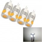 YouOkLight G4 5W 480lm 6000K 4-COB-LED-Weißlicht-Lampen Lampen - Silber (AC / DC 12 V / 4 PCS)